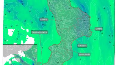 Martedì nuovo peggioramento con piogge e temporali