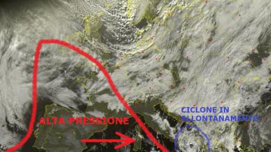 Il vortice ciclonico se ne va: residua instabilità in attesa di un miglioramento per lunedì...