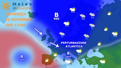 Weekend variabile con arrivo di nuove piogge