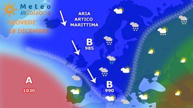 Giovedì e venerdì: Calabria alle prese con una veloce ondata di maltempo