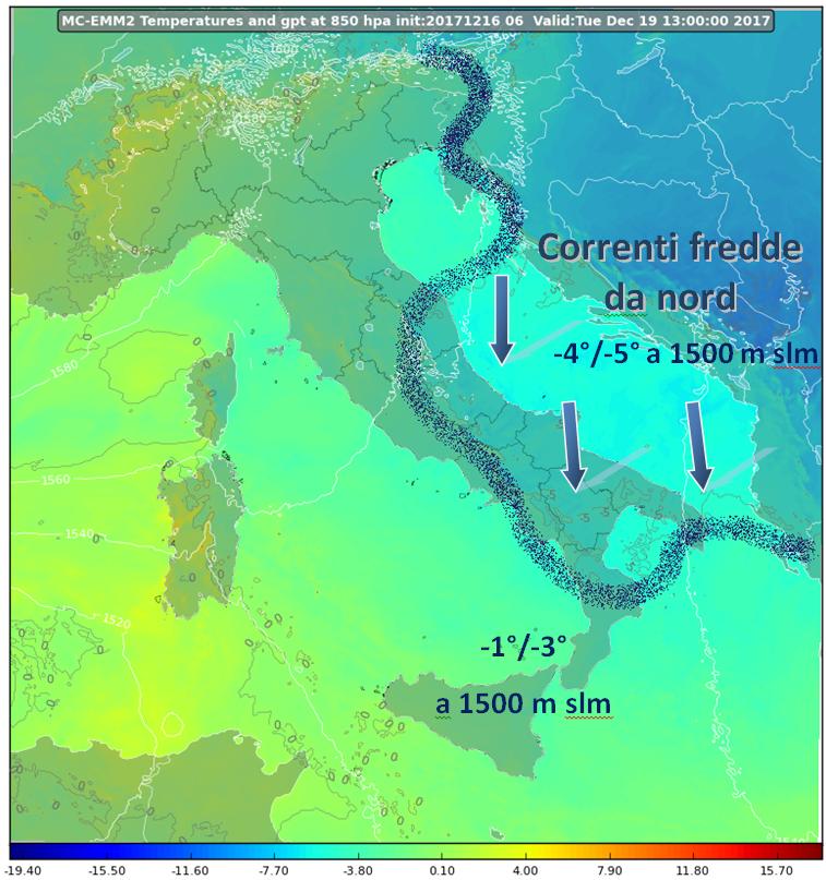 Inizio di settimana freddo su tutta la Calabria [DETTAGLI]