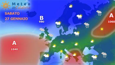 Meteo weekend: nubi sparse sulla Calabria