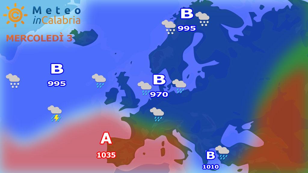 Due giorni con debole instabilità e temperature in lieve rialzo...
