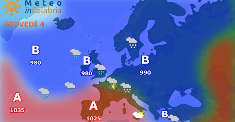 Giovedì e venerdì tempo variabile con debole instabilità.
