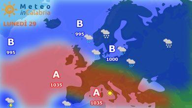 Lunedì e martedì Calabria ancora sotto il dominio dell'alta pressione...
