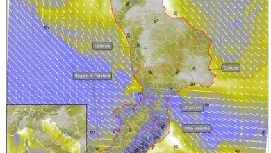 Martedì con venti localmente intensi, con punte di 'tempesta'! [DETTAGLI & MAPPE]