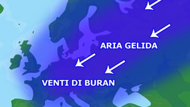 In Europa arrivano i gelidi venti di BURAN (??????), sud ai margini