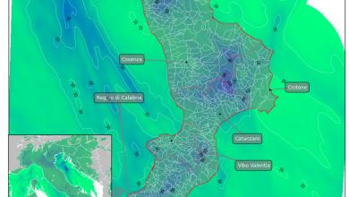 Venerdì di pesante maltempo sulla Calabria: i dettagli