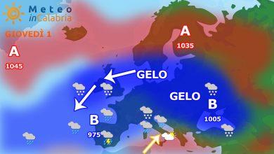 Meteo di giovedì e venerdì: fine della fase fredda, irrompono venti da sud!