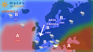 Dopo giorni di alta pressione, da venerdì cambio del tempo con ritorno ad una parvenza d'inverno...