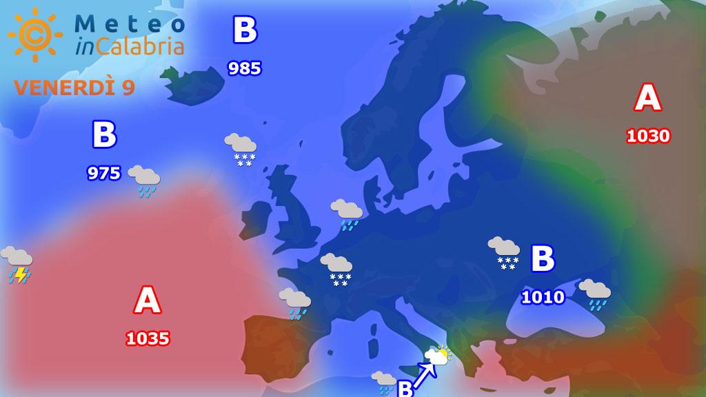Meteo di venerdì e sabato: in attesa di un nuovo peggioramento a partire dai versanti ionici
