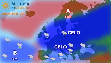 Ancora freddo con deboli fenomeni nevosi localmente a quote molto basse...