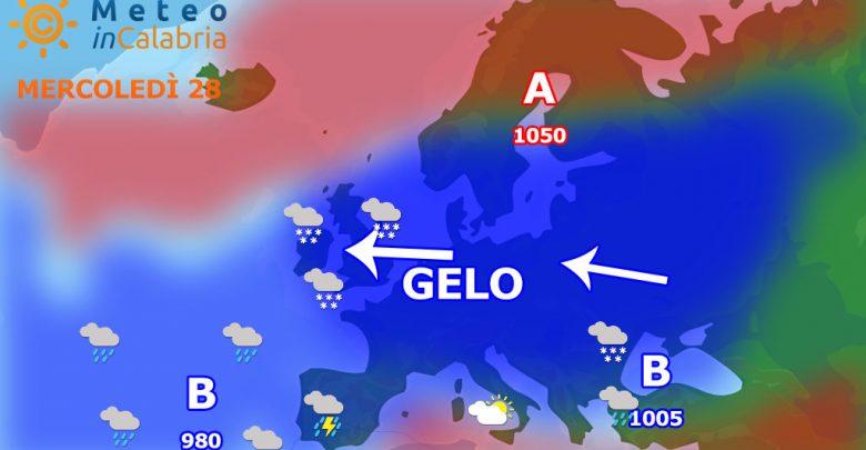 Meteo di mercoledì e giovedì: ultime sporadiche nevicate, poi rapido rialzo delle temperature.