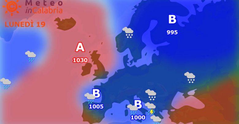 Sulla Calabria instabilità a fasi alterne per lunedì e martedì...