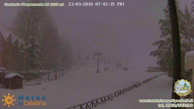 23 marzo risveglio bianco sui monti calabresi [dettagli & foto]