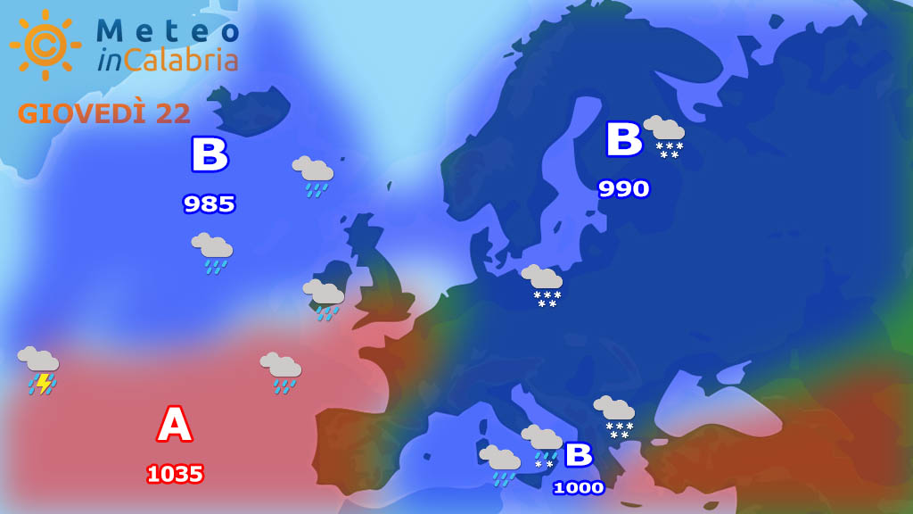Tra giovedì e venerdì il clou del peggioramento, con neve a quote localmente basse...