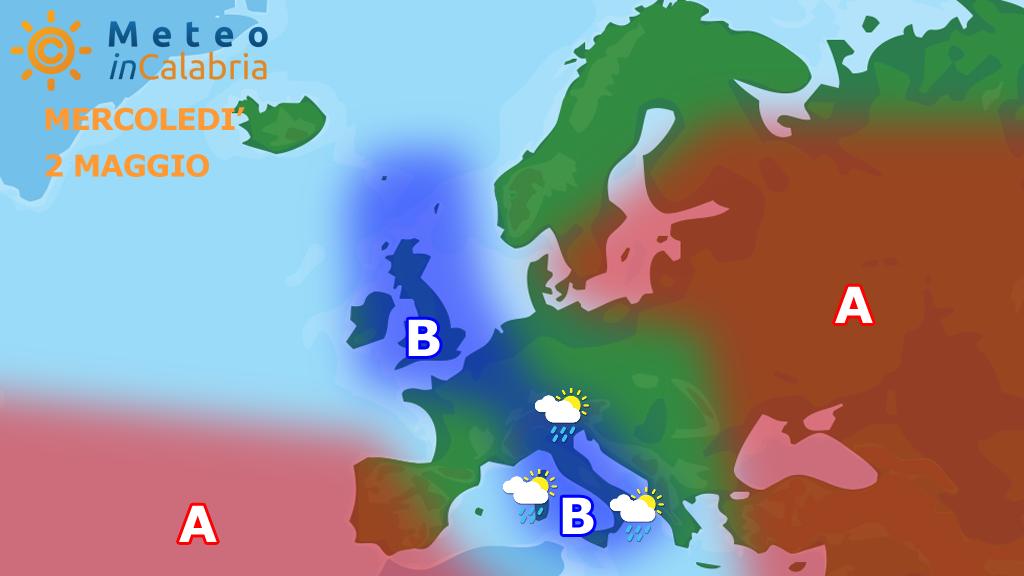 Peggioramento del tempo sulla Calabria: scirocco localmente forte e piogge sparse...