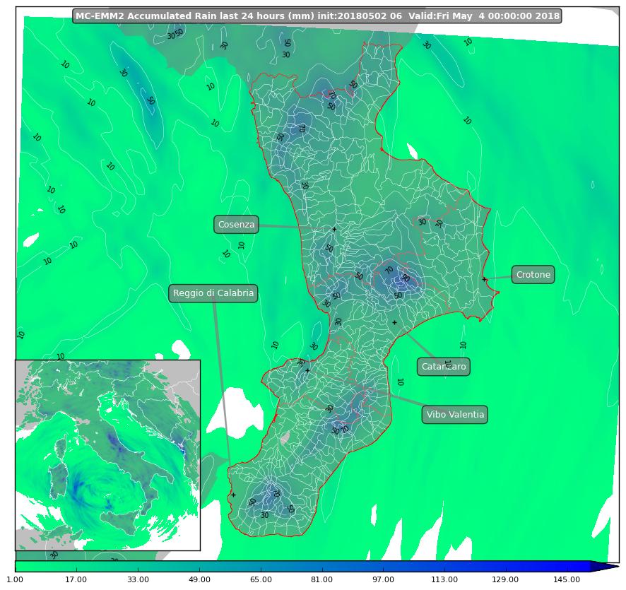 Focus sul peggioramento di giovedì 3 maggio sulla Calabria [MAPPE & DETTAGLI]
