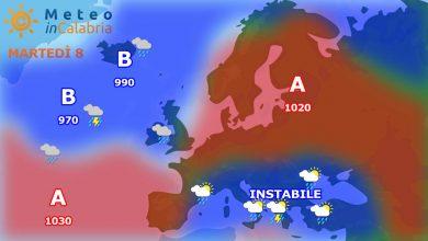 meteo di martedì e mercoledì: insistono locali fenomeni instabili pomeridiani