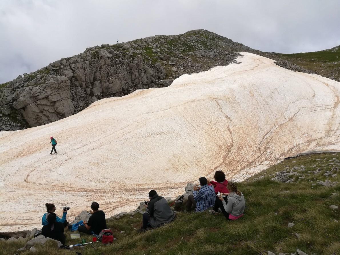 Lo stato del nevaio del Pollino al 10 giugno 2018 [FOTO]