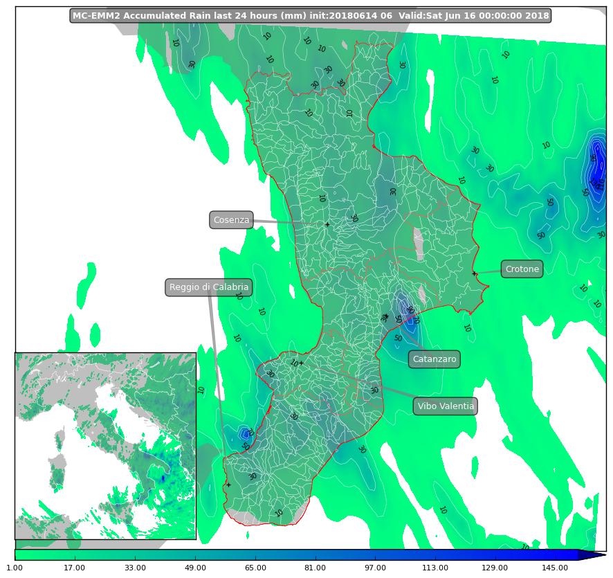 Focus sul maltempo di domani sulla Calabria [MAPPE & DETTAGLI]