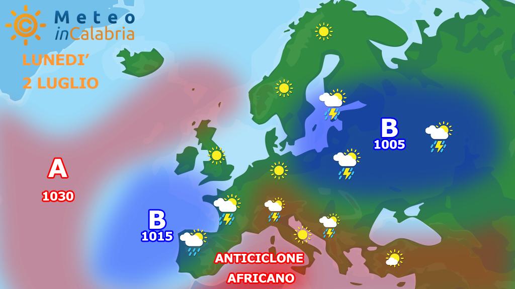 Inizio settimana con tempo stabile e caldo sulla Calabria