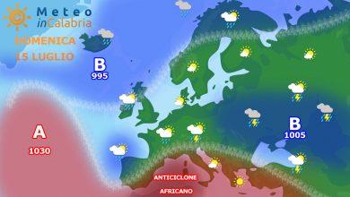 Previsioni di domenica e lunedì: alta pressione africana ancora dominante sulla Calabria...