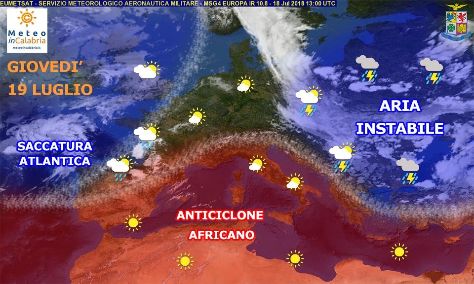 Meteo di giovedì e venerdì in Calabria: temperature gradevoli e tempo stabile con piccoli disturbi.
