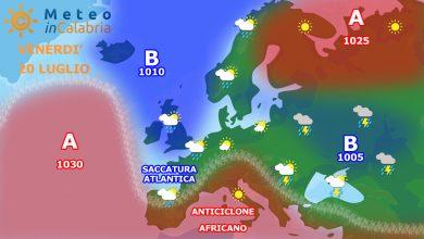 Venerdì e sabato: tempo stabile con temperature in graduale aumento.