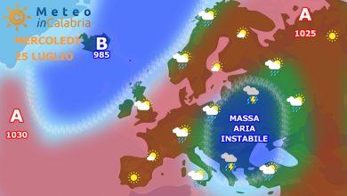Mercoledì e giovedì ancora con tempo localmente instabile e temperature gradevoli...