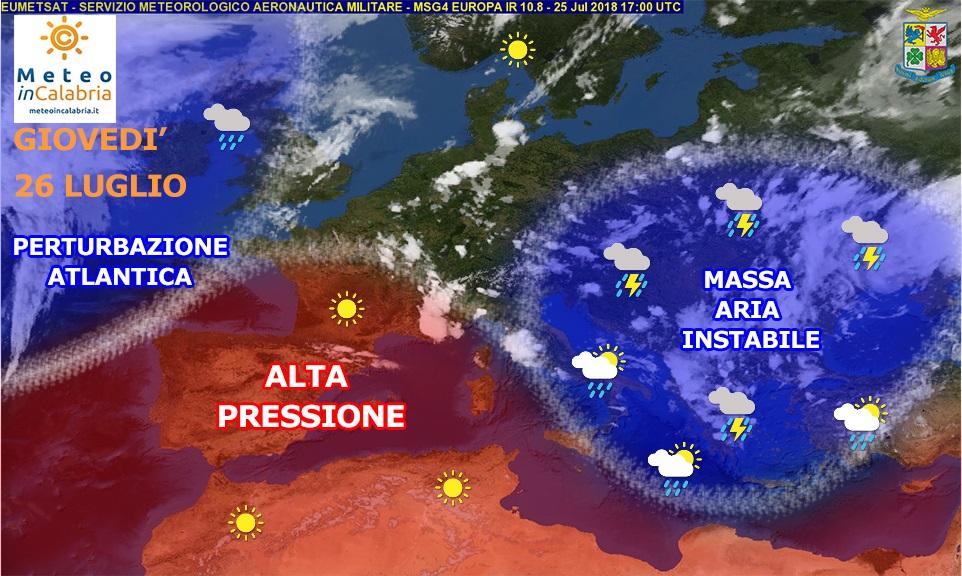 Giovedì e venerdì ancora temperature gradevoli ma anche locale instabilità sulla Calabria