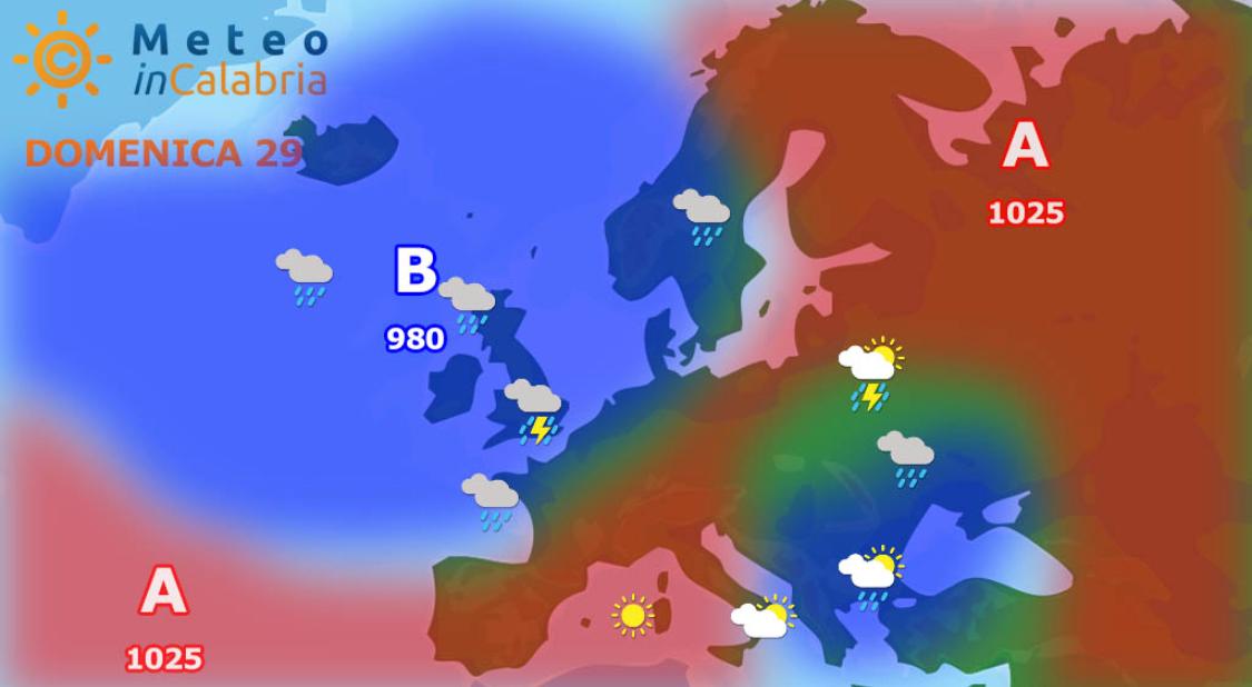Domenica con nuvole sparse e locale instabilità...