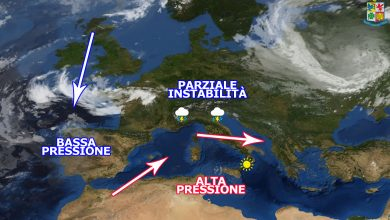 Martedì e mercoledì: alta pressione africana sempre più invadente...