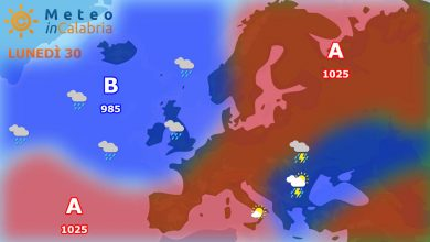 Inizio settimana sempre con temperature gradevoli e fenomeni instabili localizzati....