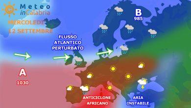 Mercoledì e giovedì nubi sparse sulla Calabria, in attesa di un debole peggioramento...