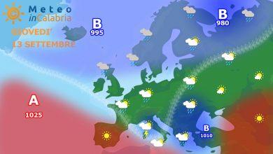 Giovedì sulla Calabria graduale peggioramento del tempo...