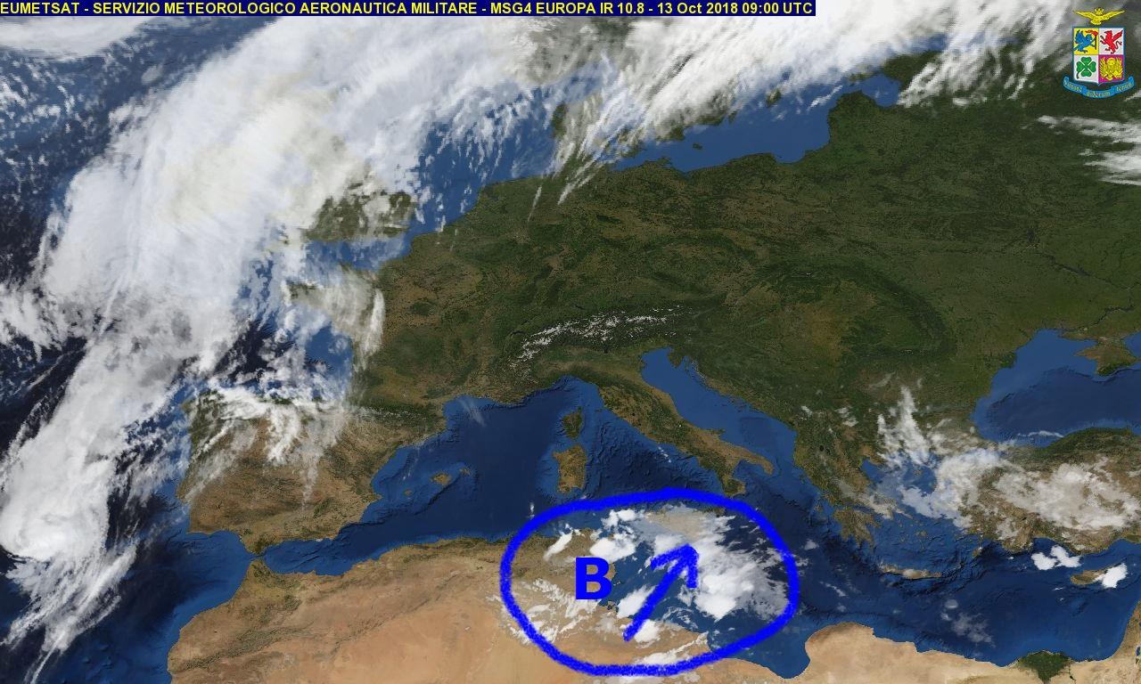 Da domenica pomeriggio peggioramento del tempo localmente intenso sulla Calabria