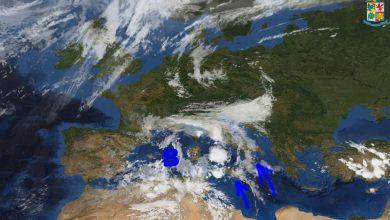 Ancora piogge sparse in particolare su versanti ionici della Calabria