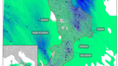 Giovedì 4 ottobre ancora maltempo sulla Calabria: il focus sulle piogge previste.
