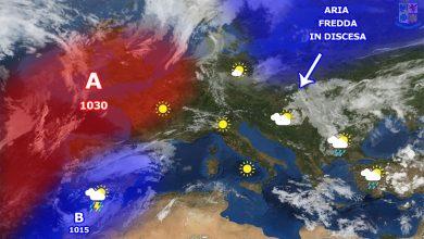 Sabato bel tempo, da domenica i primi segni del peggioramento di lunedì...