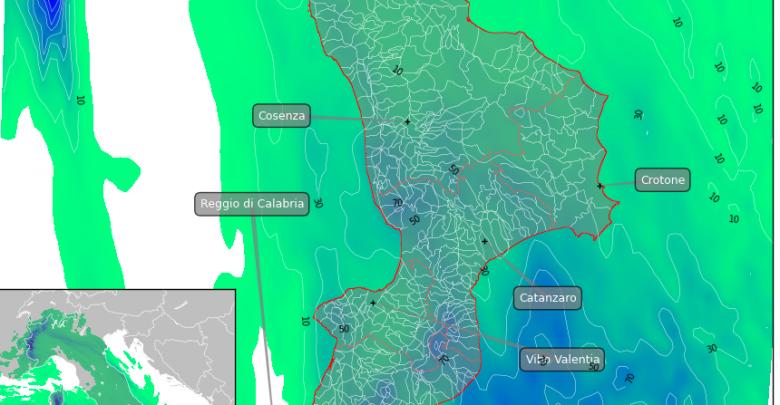 Domenica perturbata sulla Calabria : i dettagli.