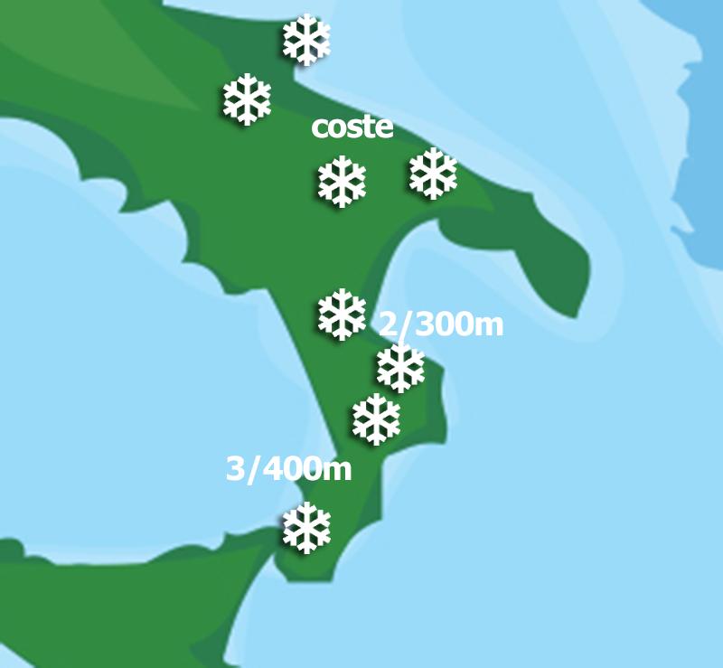 Focus Neve giovedì: fiocchi fino a bassa quota