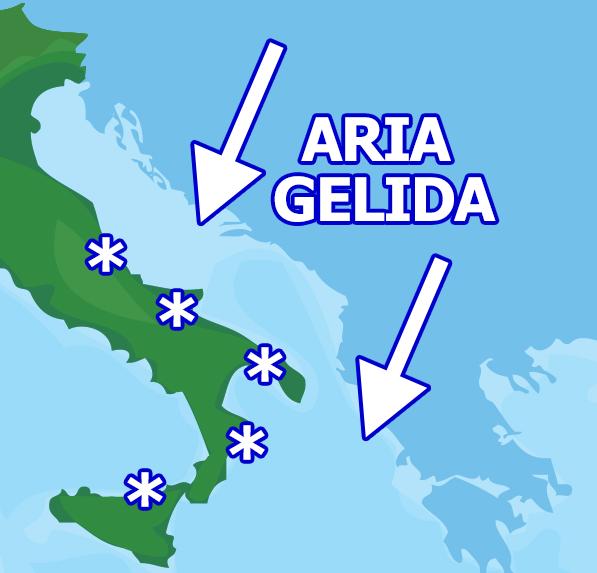 Irruzione ARTICA: tracollo delle temperature, neve fin sulle coste!