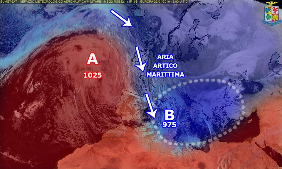 Giovedì di maltempo sulla Calabria: piogge, anche temporalesche, e nevicate.