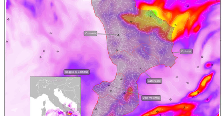 Intenso peggioramento: piogge localmente abbondanti e ritorno della neve sui monti