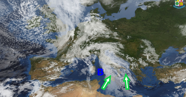 Gli effetti di una perturbazione alimentata da aria fredda proveniente dal nord Atlantico