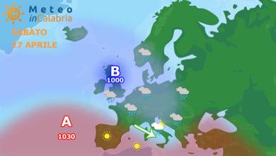 A partire da sabato si verificherà un cambio di scenario meteorologico