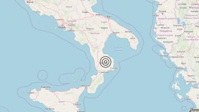 Terremoto Calabria 01-05-2019