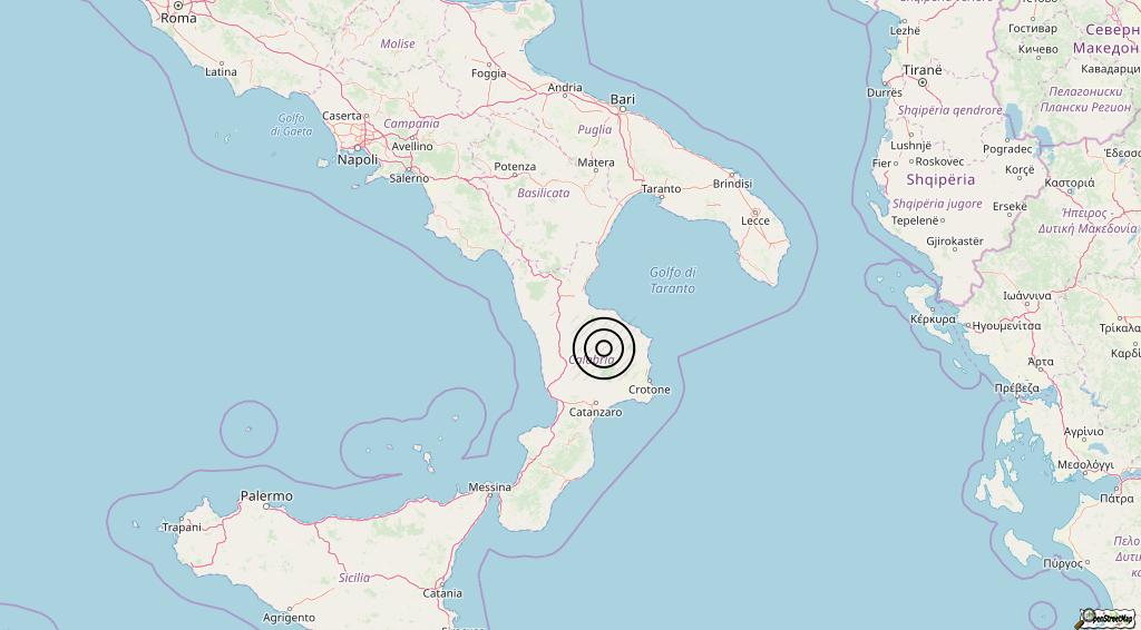 Terremoto Calabria 24-05-2019