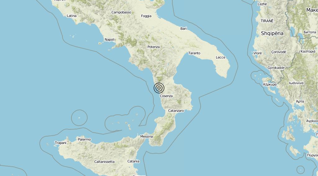 Terremoto Calabria 28-05-2019
